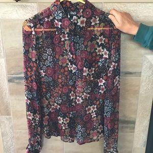 Dolce & Gabbana Silk Sheer Blouse